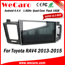 Wecaro Android 4.4.4 car multimedia system in dash autoradio for toyota rav4 1080p GPS 2013 - 2015