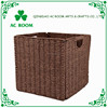 AC ROOM paper rope/ seagrass rope foldable basket square shape