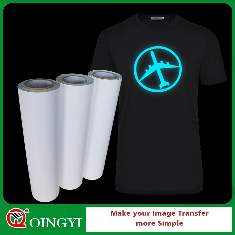 Qingyi hot sale glow in dark vinyl heat transfer for fabric