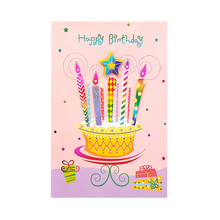 2018 product designs 3D 4c printing happy birthday cake gift card photos picture greeting cards