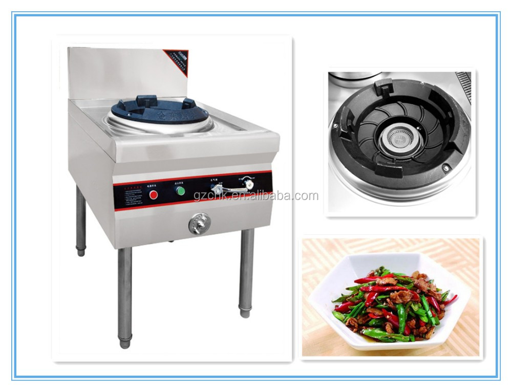 Chinese style Blower gas wok range / Stainless steel cooking range with single burner