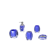 Exquisite Blue Clear Resin Bathroom Accessories Set Factory