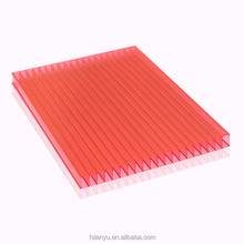 twin-wall pc sheet/double wall polycarbonate hollow sheet for building material