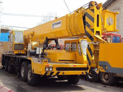 Used Truck crane TADANO TG800E, used tadano 80 ton crane for sale in China