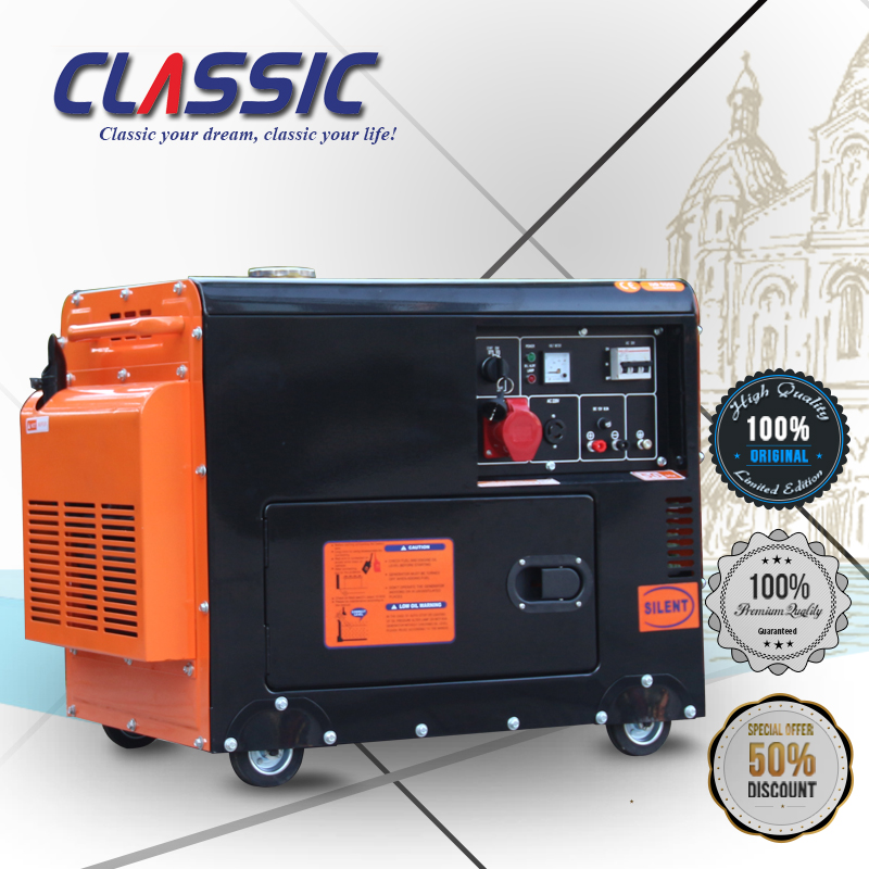 CLASSIC CHINA 5000W Long Run Time Chinese Super Silent Diesel Generator set, Diesel Generator 5.5kva, Diesel Generator Set 5kw