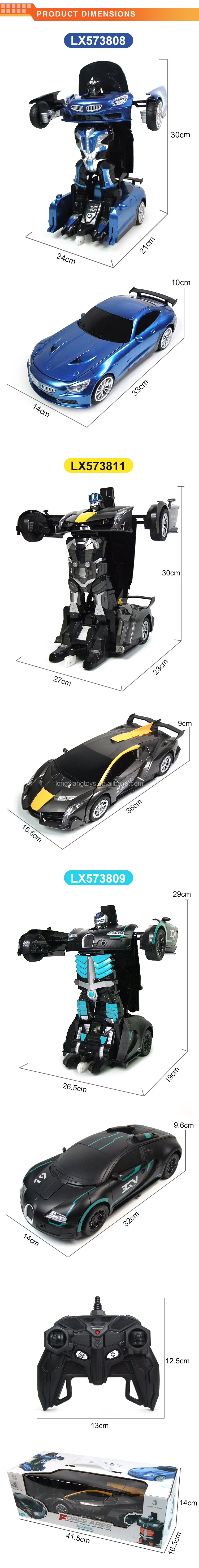 Transform Car Robot Deformation  2 in 1 RC Robot  Model Car Toys
