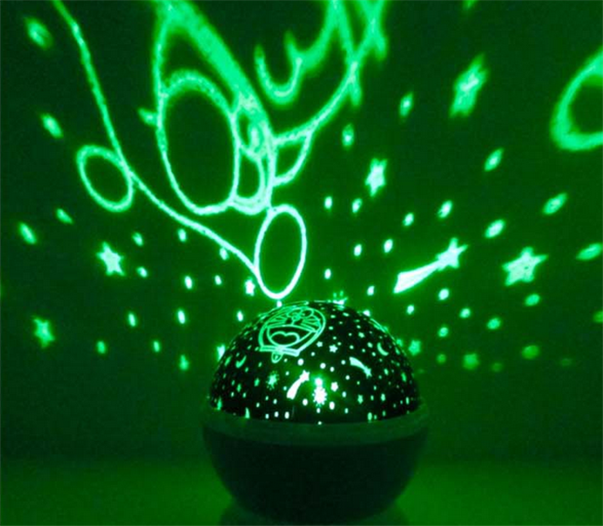 Romantic Led Night Lamp Rotating Starry Star Moon Sky Rotation Night Lighting Projector Lamp Kids