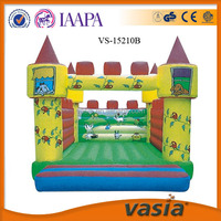 High quality kids jumping mini trampoline outdoor castle inflatable bouncer house for sale