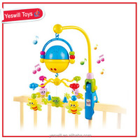 plastic baby musical mobile toys with light