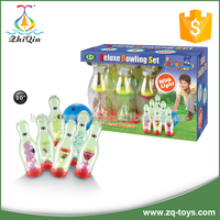 Wholesale plastic sport toy bowling set with light