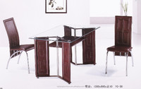 space saving hot exotic rectange glass top dining table