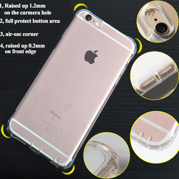 Case cover for iPhone 7 soft electroplating tpu transparent wholesale cheap