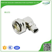High quality DIN 7/16 male right angle RG connector adapter for LMR600 cable