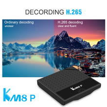 Latest android 7.1 tv box KM8P s912 octa core download user manual for android tv box KM8P android media stick player google tv