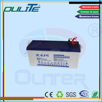 Wholesale price!Solar rechargeable deep cycle dry cell battery 12V 150AH for solar system