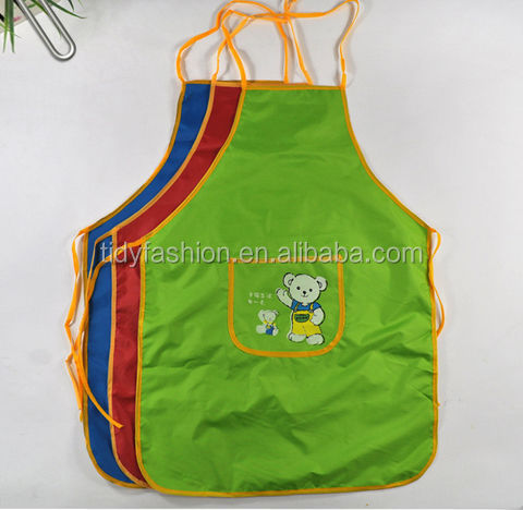 Cute Print Kids Drawing Apron For Promotion