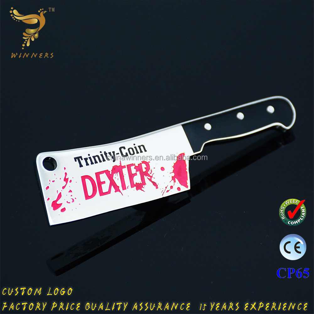 New design knife shaped Weapon Metal Model Knife Sword Key Ring key chain wholesale