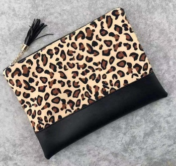 2019 leopard print Small clutch canvas Handbags For Ladies