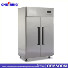 Double-temperature portable side by side refrigerator freezer