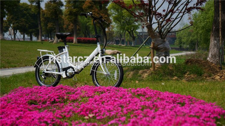 2016 latest folding electric bike with rear motor RSEB636
