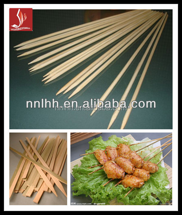 Bamboo BBQ oven baking skewers
