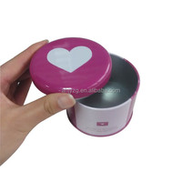 round shaped metal cupcake box for cupcake cake packaging