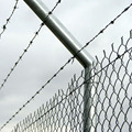 Silver colour america chain link fence for tennis courts
