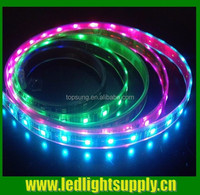 High lighting hot sale IP65 indoor outdoor battery powered trimmable 5050 flexible waterproof RGB chasing led strip 220v 60led/m