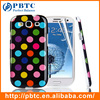 Set Screen Protector And Case For Samsung Galaxy S3 I9300 , Dot Pattern Hard Gel TPU Phone Case Custom