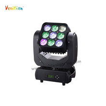 9PCS 10W RGB 3IN1 Dimming RGB Matrix LED Lighting For KTV, disco, clubs,show party,wedding led matrix ight