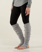 cable knit solid color knee high cozy grey dance women leg Warmers