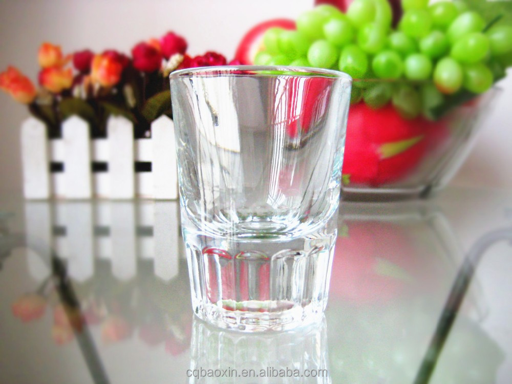 New design thick-bottom clear drinking glass type shot glass aquavit 60ml/2.oz(glass factory had passed FDA/EU/SGS)