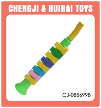 Musical instrument 8 keys plastic pipe organ