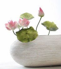 ZERO Real Touch Silicone Artificial Lotus Flowers Decoration Lotus Flower