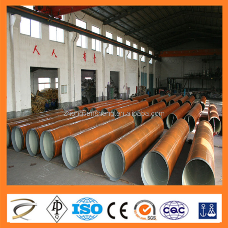 DIN 30670 3 layers polyethylen coating Spiral welded pipe Chinese supplier
