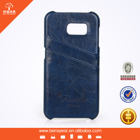 PU leather mobile phone cover case for samsung S6 case With card slots