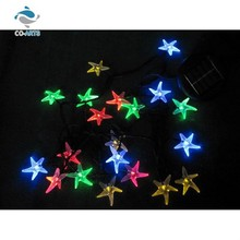 Good quality color changing solar charging star shaped string lights