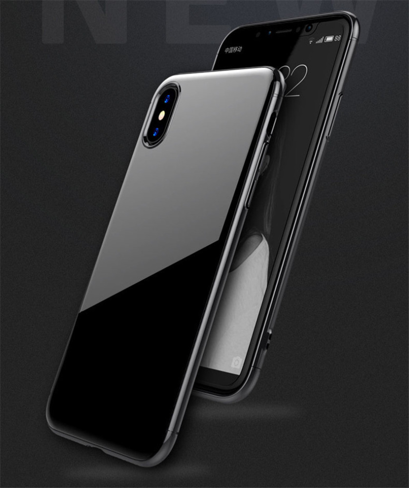 Simple Fashion Ultra Thin 3 in 1 Plating PC Hard Case Luxury Smooth Anti-drop Protective Cover for Apple iPhone X CA6099