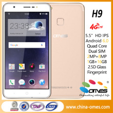 4G fingerprint H9 5.5 inch 1G+16G Quad Core MTK6737 Android 6.0 latest android celulares telefonos