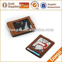 Leather Credit Card Pouch With Money Clip