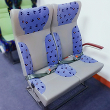 Hot selling seats for minibus with fire-proof sponge and leather and cloth cover