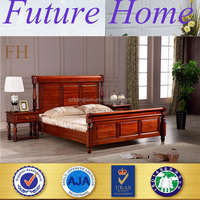 high quality luxury solid wood double bed