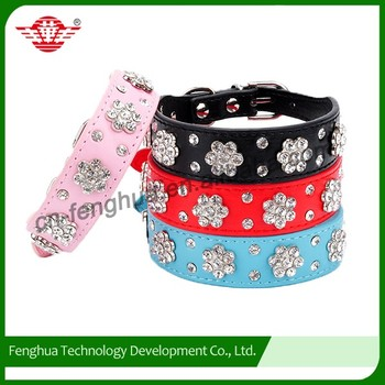 cow leather dog collar wtih 2 rows round studs for dogs