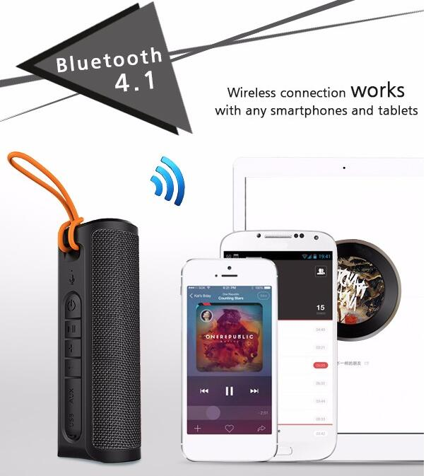 best sale Portable Waterproof Wireless Bluetooth Speaker for Mobile Phone, tablet, PC, laptop,notebook