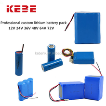 Shenzhen KEBE hot sale 64V20ah battery pack lithium ion car batteries