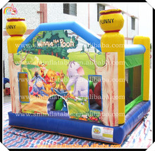 Hot Selling inflatable winnie bear bouncer castle,cartoon bear bouncy,decorative painting bear jumping houses