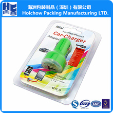 Simple Design Clear Plastic Clamshell, Double Blister Clamshell Packaging USB/Car Chargers for i Pad