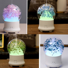 Flower aroma diffuser humidifier / electric ultrasonic aroma essential oil usb air humidifier