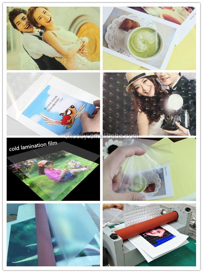 High quality Self Adhesive Cold Lamination Film / Cold Lamination Film Roll For Photo Protection