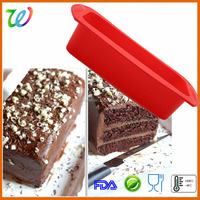 Big size silicone oblong loaf bakeware cake pan with handle